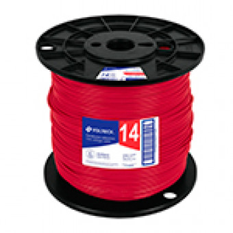 Cable THHW-LS. 12 AWG. rojo.