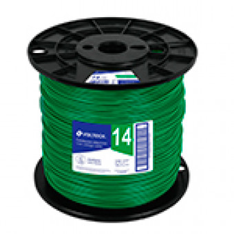 Cable THHW-LS. 12AWG. verde. bobina 500m