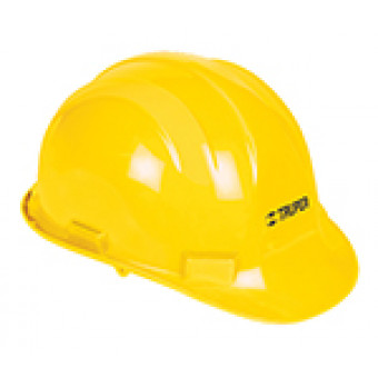 Casco de seguridad color amarillo