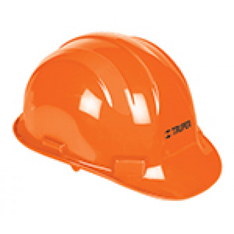 Casco de seguridad color naranja