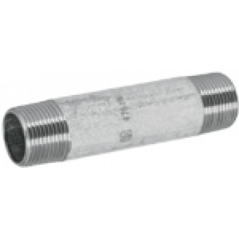 Niple galvanizado. 13 mm x 7.5 cm. 1/2 x 3""