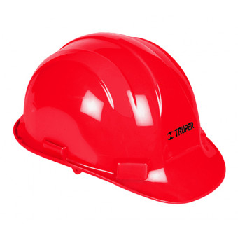 Casco de seguridad color rojo
