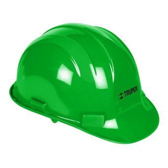 Casco de seguridad color verde