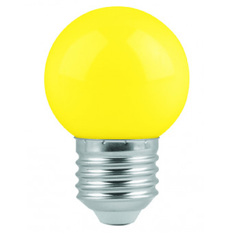 Lámpara de led. G45. 127 V. 1 W. amarillo