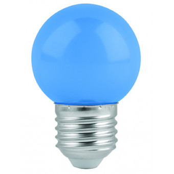 Lámpara de led. G45. 127 V. 1 W. color azul