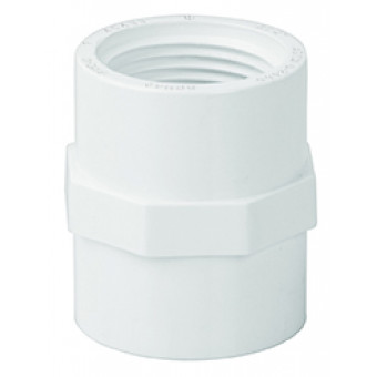 Adaptador hembra de PVC. 19 mm